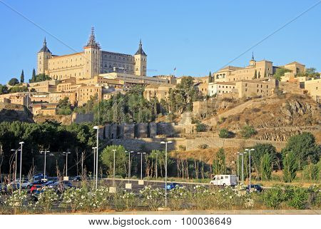 Toledo, Spain Old Town At The Alcazar.