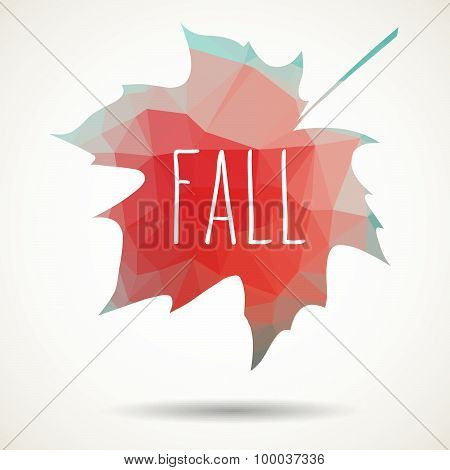Fall Triangular Maple Leaf
