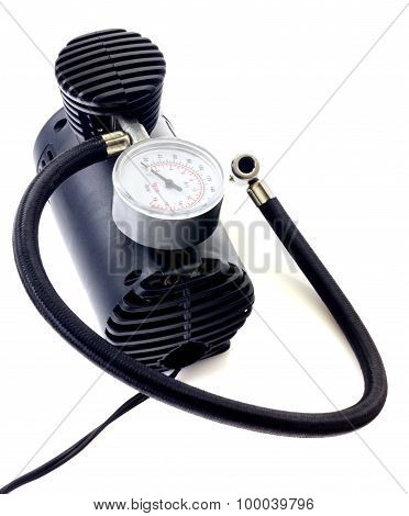 Air compressor isolated on white