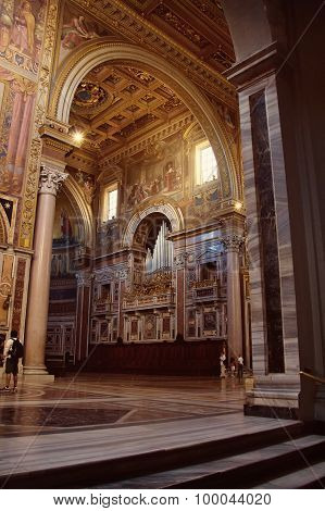 Fragment Of Interior Of The The Loggia Delle Benedizioni, Basilica Of St. John Lateran, Rome, Italy