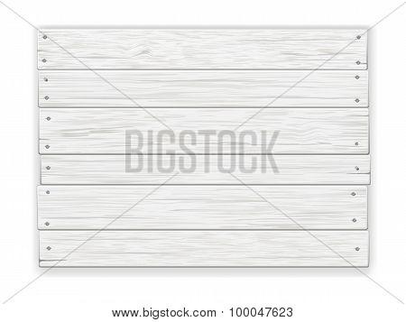 Vintage white Wooden Sign