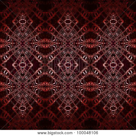 Seamless pattern brown red