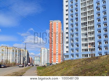 KRASNOGORSK, RUSSIA - APRIL 22,2015: Krasnogorsk is city and center of Krasnogorsky District in Mosc