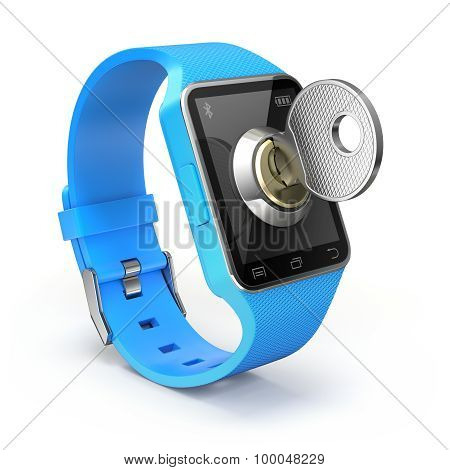 Smart watch with the key