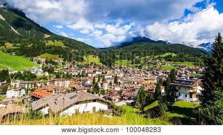Cityscape Of Moena In The Dolomites, Italy