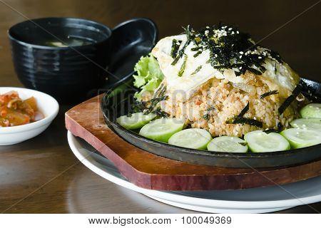 Korean fermented vegetable Kimchi fried rice