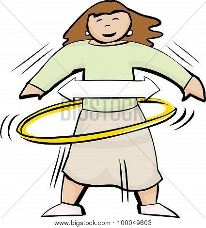 Female Using Hula Hoop