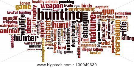 Hunting Word Cloud