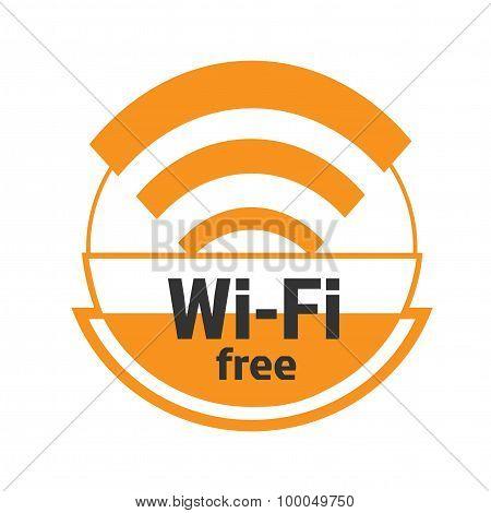 Symbol of the free zone wi-fi
