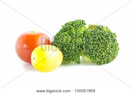 Fresh Salad Ingredient With Broccoli And Tomatoes