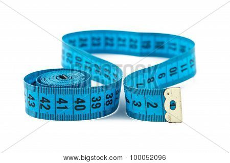 Photo blue measuring tape, cm