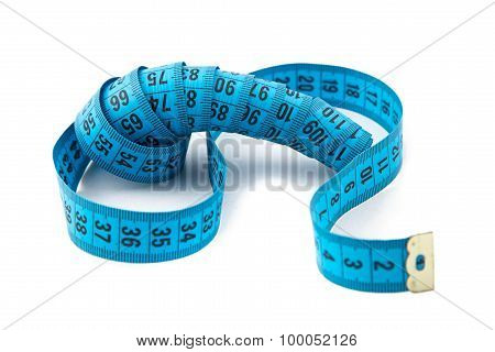 Image blue measuring tape, cm