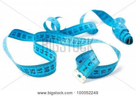 Photo blue untwisted measuring tape