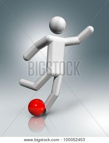 Football, Soccer 3D Symbol, Olympic Sports