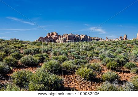 Rock Formations In Canyonlands National Park