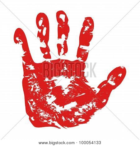 Red Print of hand