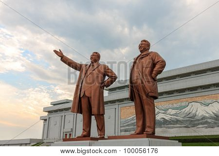 Grand Monument in Pyongyang.