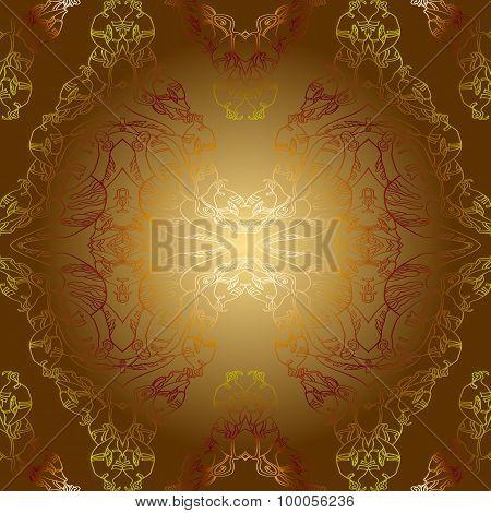 Sepia Golden Vintage Background Pattern