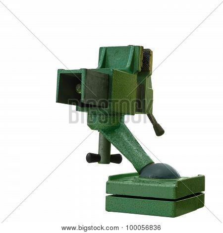 Green Steel Vise