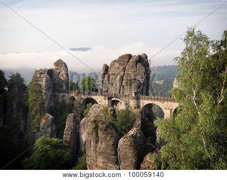 Bastei Bridge In Saxon Switzerland