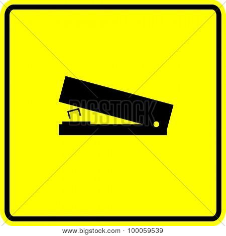 stapler sign