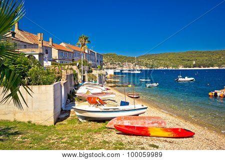 Mediterranean Fishermen Town Of Vis Coast