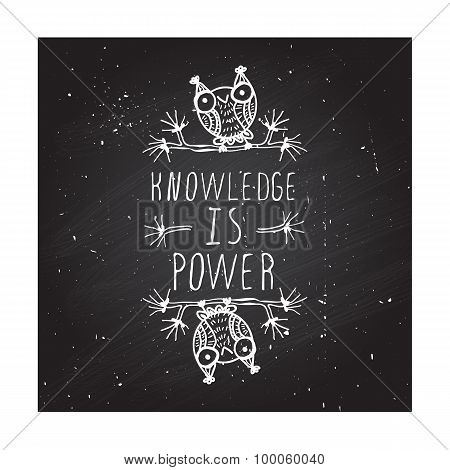 Knowledge is power - poster