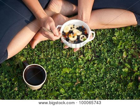 Healthy Breakfast Outdoors