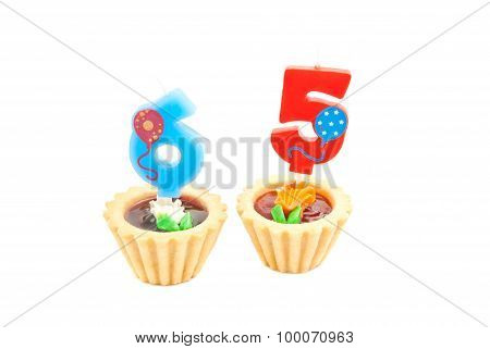 Cakes With Sixty Five Years Birthday Candles