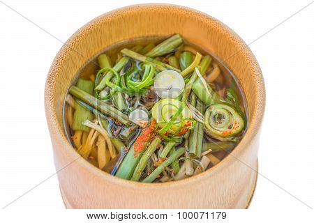 Japanese Cuisine Miso Soup With Vegetable