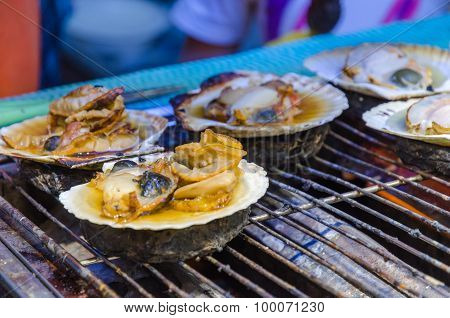Fresh Grilled Scallops