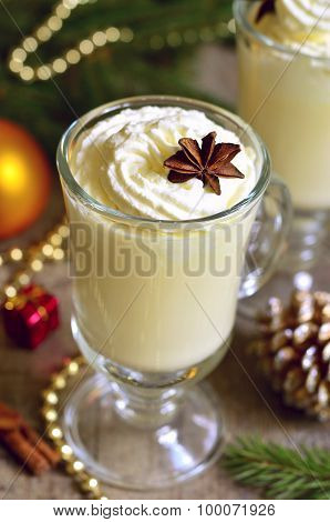 Eggnog -  Hot Christmas Drink.