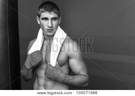 Professional boxer training