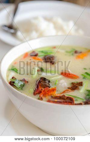 Thai Chicken Soup In Coconut Milk