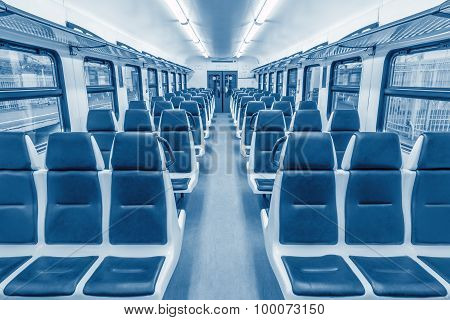 Empty passenger carriage.