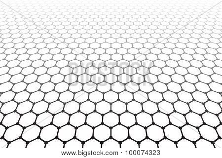 Hexagons pattern. Geometric latticed texture. Vector art.