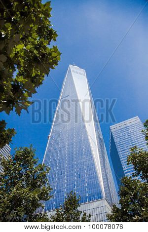 NEW YORK CITY, USA - SEPTEMBER, 2014: World Trade Center One in Downtown Manhattan