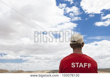 Staff Man In The Middle Of Nowhere