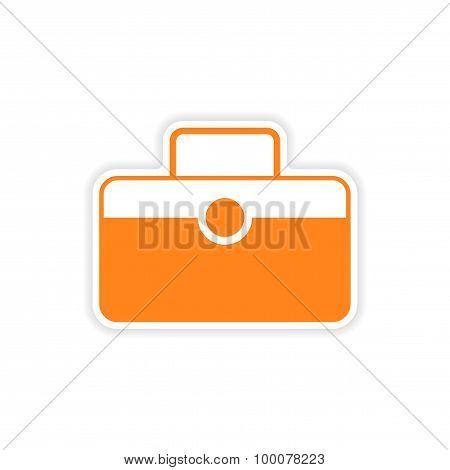 icon sticker realistic design on paper baggage