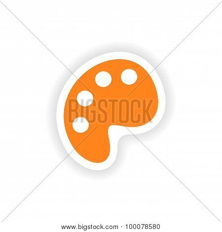 icon sticker realistic design on paper palette