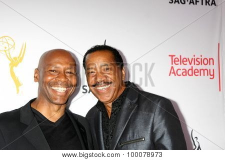 LOS ANGELES - AUG 27:  Kevin Eubanks, Obba Babatunde at the Dynamic & Diverse Emmy Celebration at the Montage Hotel on August 27, 2015 in Beverly Hills, CA
