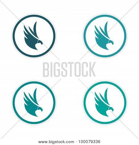 assembly silhouette stickers Eagles