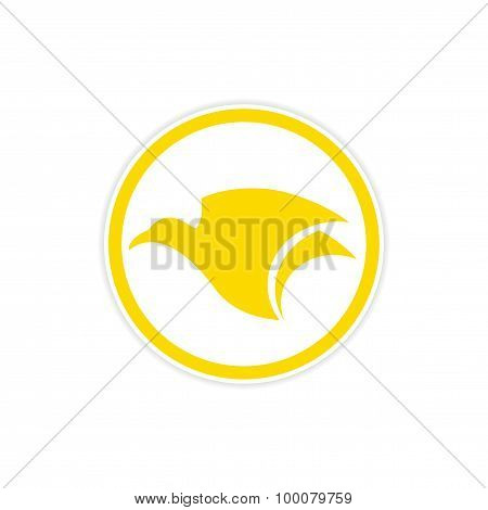 Sticker Eagle flies logo
