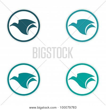 assembly sticker flying eagle