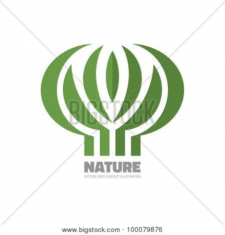 Nature - vector logo concept illustration. Ecology logo. Leafs logo. Bio product logo. Ecology logo.