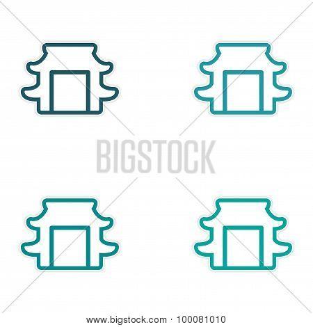 Sticker assembly Japanese arch