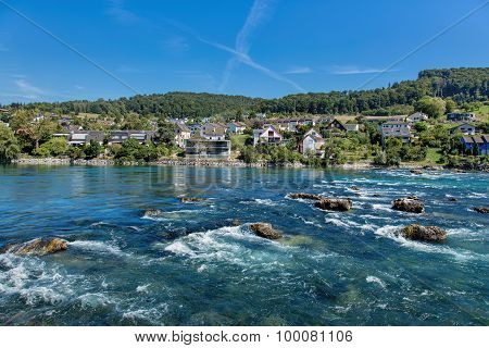 Rhine Above The Rhine Falls