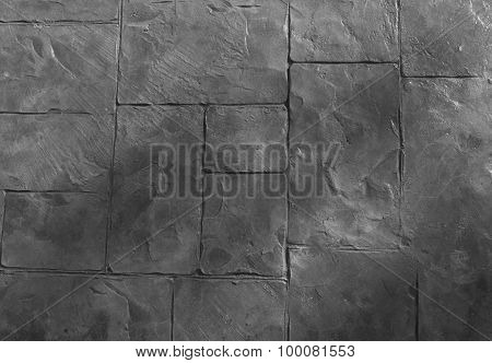 Horizontal Texture Of The Gray Stone Floor