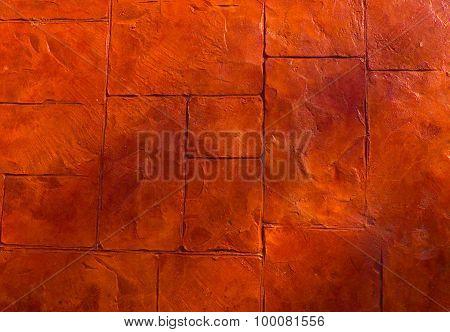 Horizontal Texture Of The Orange Stone Floor