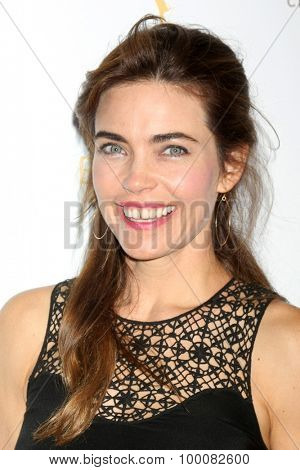 LOS ANGELES - AUG 26:  Amelia Heinle at the Television Academy's Daytime Programming Peer Group Reception at the Montage Hotel on August 26, 2015 in Beverly Hills, CA
